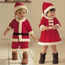 2016 Enfants De Noël Vêtements Ensemble 12M-3A Bébé Garçons Filles De Noël Costume et Dress Santa Claus Costumes Nouveau-Né Enfant Vêtements