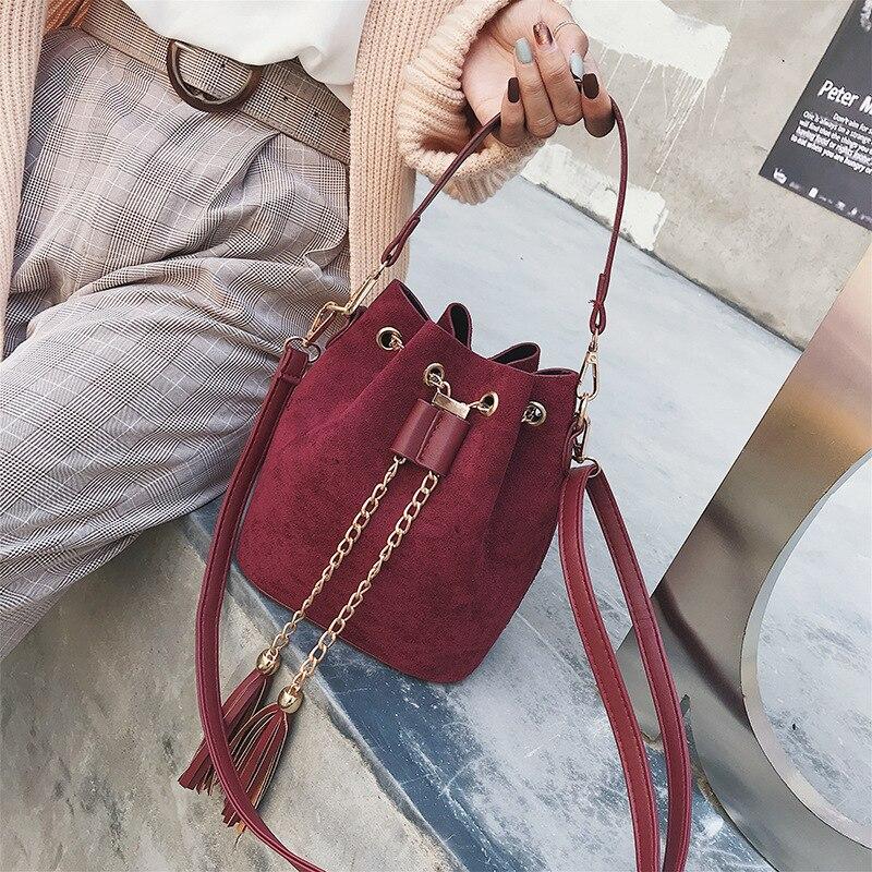 3223d5ed6393 SWDF 2019 бренд кисточкой сумка Женская Винтаж сумки через плечо для женщин  2019 сумка мешок дизайнер