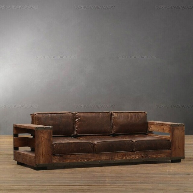 Beau American Retro Style Wrought Iron Wood Sofa LOFT Industry To Do The Old  Wood Sofa Chair