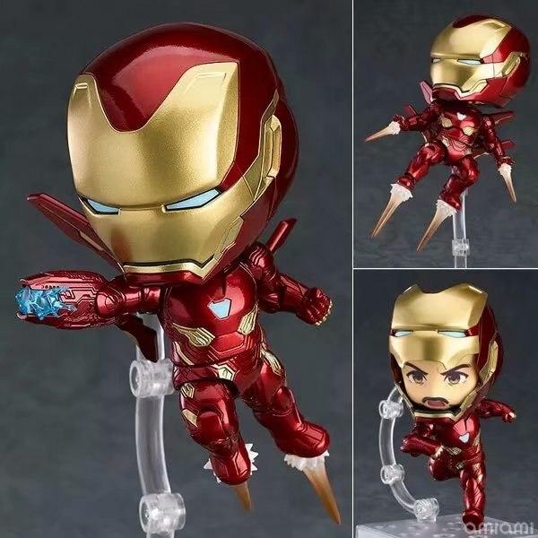 Nendoroid 988 Ironman Mark50 Marvel Avengers Cute Iron Man Tony Stark PVC Action Figure Collection Model Toys