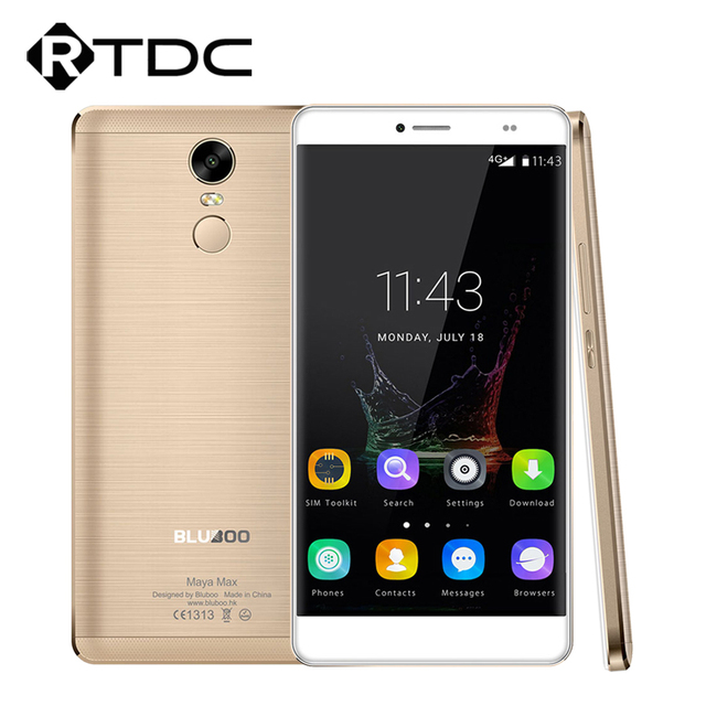In Stock Original Bluboo Maya Max 4G+ LTE Mobile Phone Android6.0 MTK6750 Octa Core 1.5GHz  6.0'' 3GB RAM 32GB ROM Fingerprint