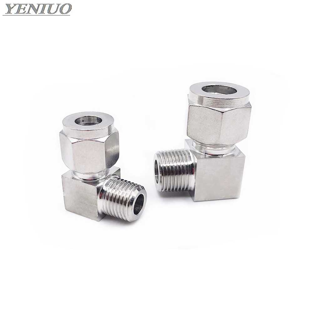"""Elbow 304 Stainless 1//8/""""-3//4/"""" OD Tube Double Ferrule Compression Union fitting"""