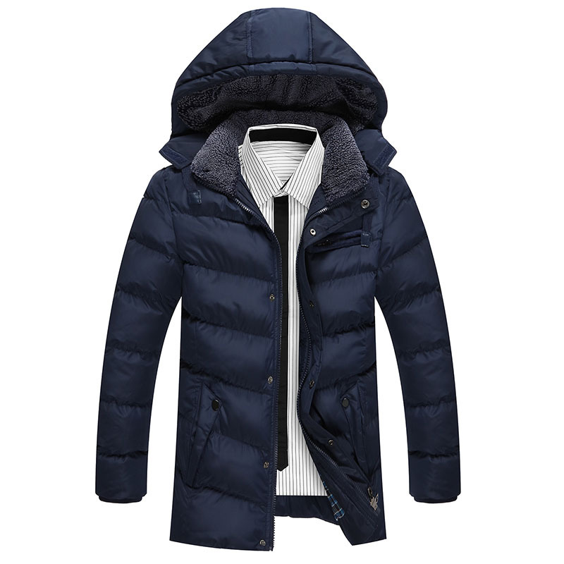 Winter Jacket Men warm coat mens casual hooded cotton jackets Brand New Handsome outwear padded Parka Plus size XXXL Y1105-142F