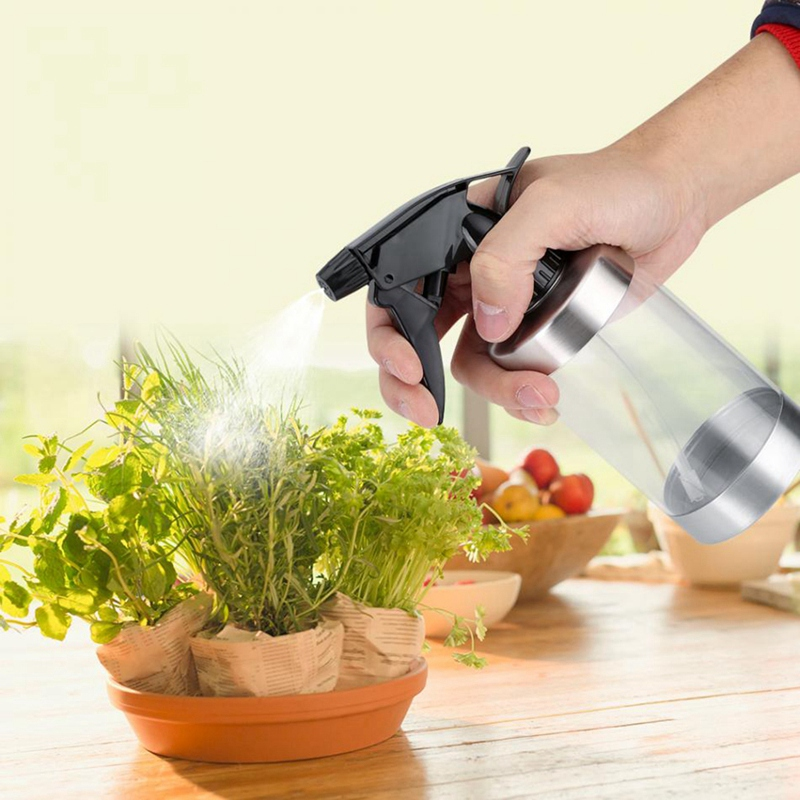 Image 5 - Stainless Steel And Acrylic Transparent Watering Can Pot Bottle Garden Sprinkle Flowers Plants Water Sprayer-in Water Cans from Home & Garden