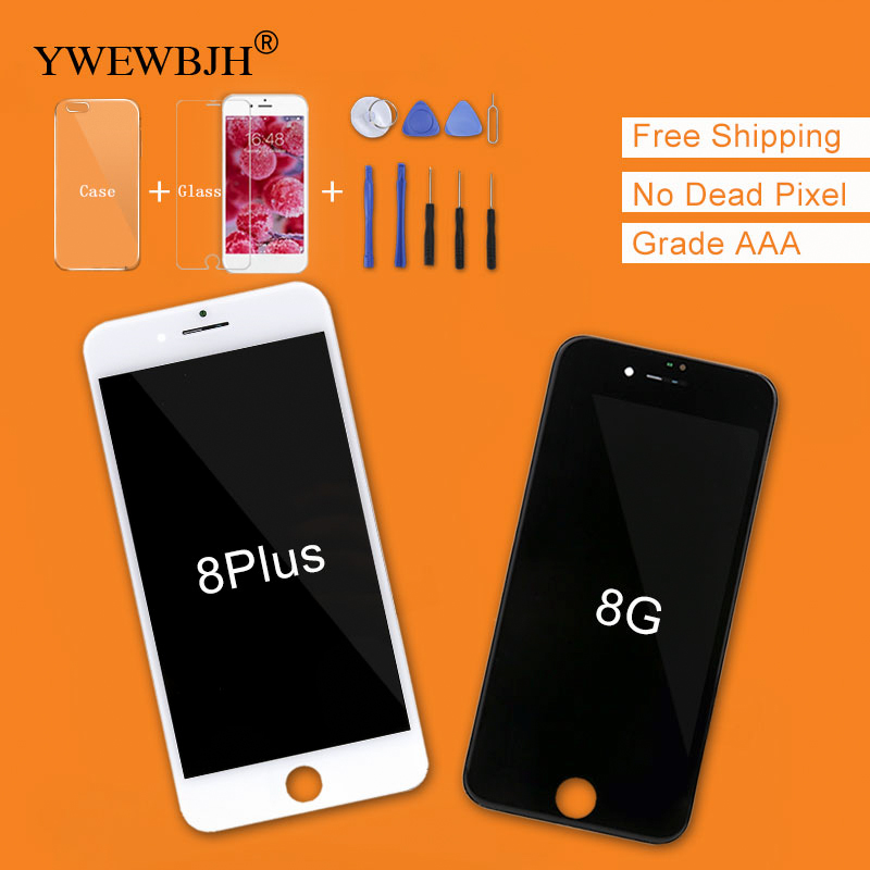 YWEWBJH 1PCS Grade AAA LCD For iPhone 8 LCD Display 3D Touch Screen Digitizer Assembly Replacement LCD For iPhone 8 Plus