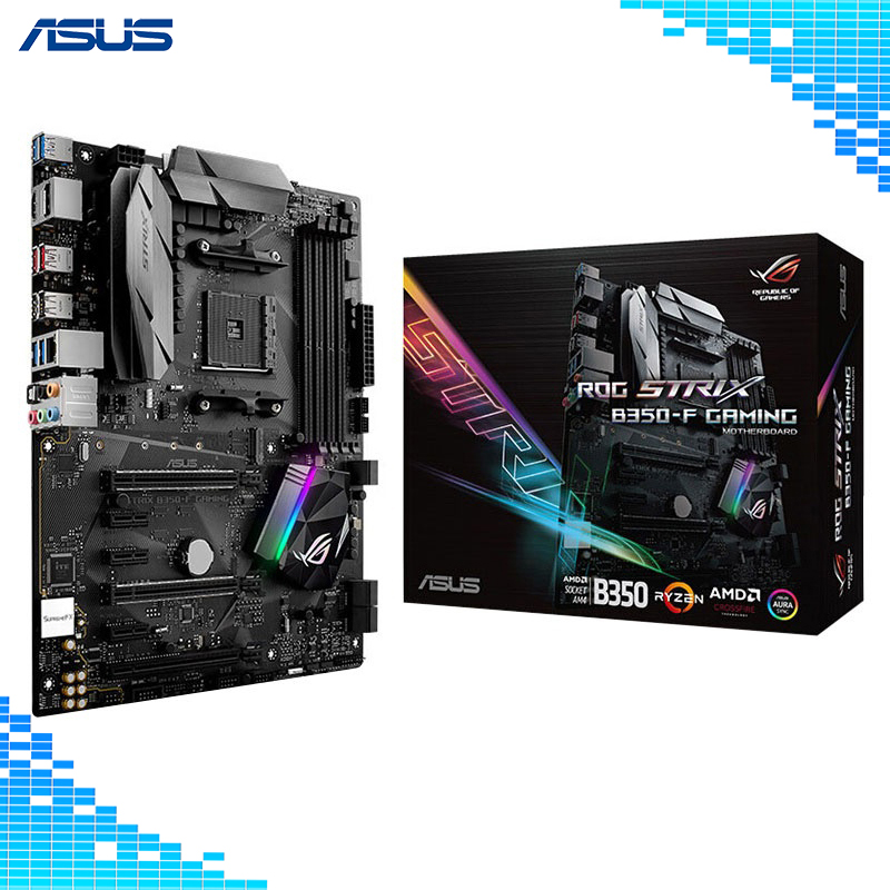 Asus ROG STRIX B350-F GAMING Motherboard REPUBLIC OF GAMERS AMD B350 socket AM4 Desktop Motherboard