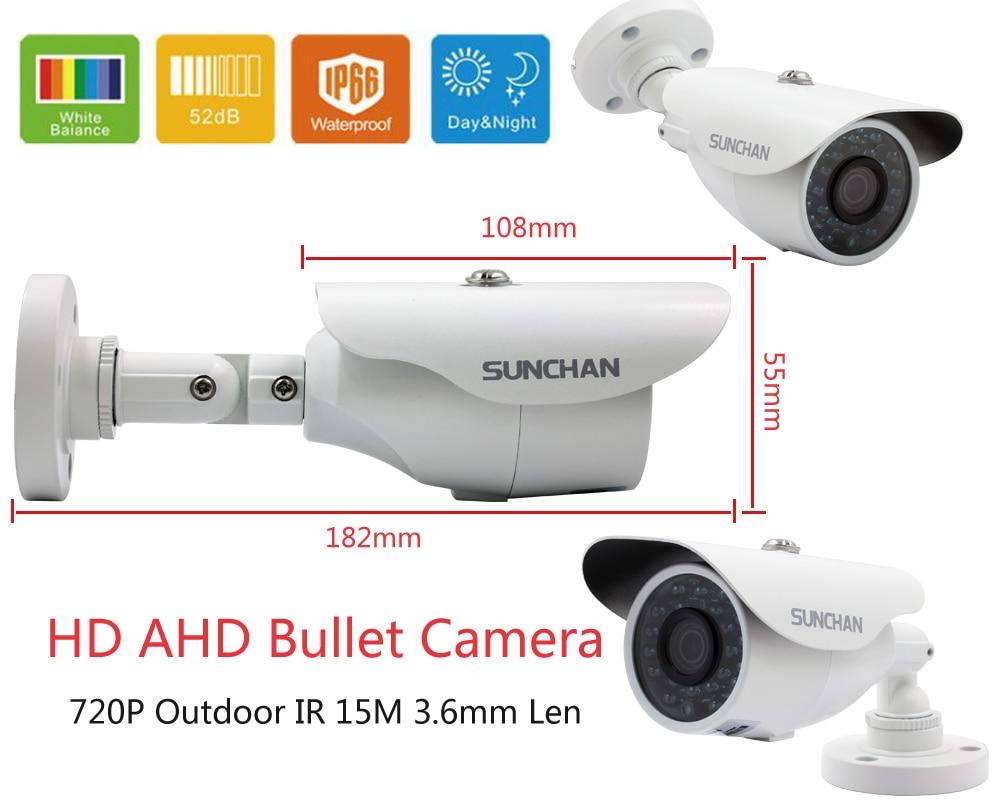 SUNCHAN High Quality 4CH 1080N AHD DVR CCTV Camera 1200TVL 24 Leds IR Night Vision Outdoor/Indoor Security Camera System 1TB
