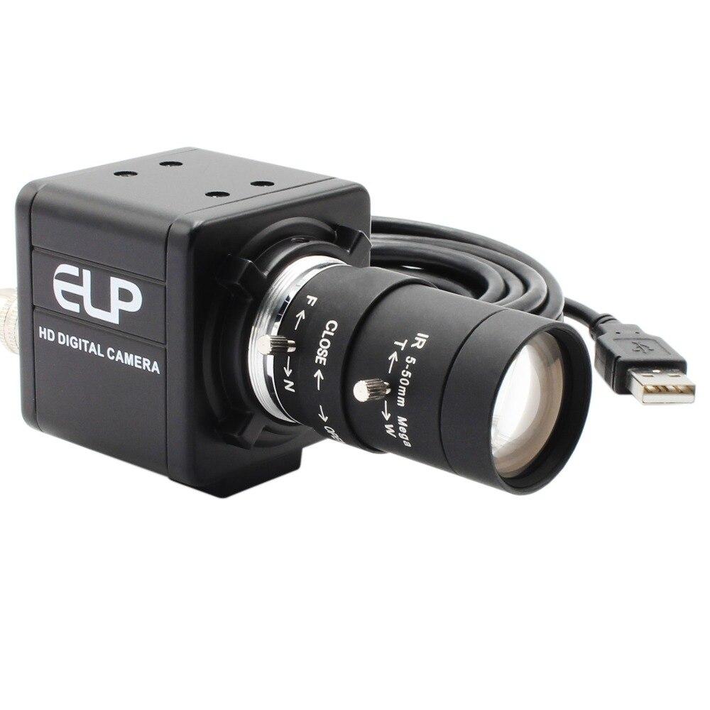 CCTV Varifocal de 5-50mm lente 8 megapíxeles SONY (1/3 2 '') IMX179 Windows Android Linux Cámara raspberry pi 8mp mini cámara USB