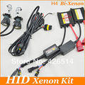 Freeship H4 Hi Lo 55W 35W Bi-Xenon HID Kit H4 High Low Slim Ballast HID Kit 5000k 6000k 8000k 4300k 12000k h4h/l for Headlights
