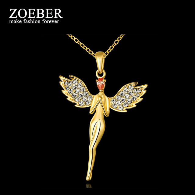 Zoeber cute angel pendants necklaces gold angel wing feather fairy zoeber cute angel pendants necklaces gold angel wing feather fairy necklaces pendants fashion jewelry for ladies aloadofball Gallery