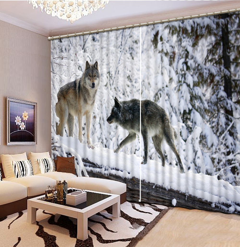 Home Decor Living Room Natural Art Animal Custom Curtain Fashion Decor Home Decoration For Bedroom Living