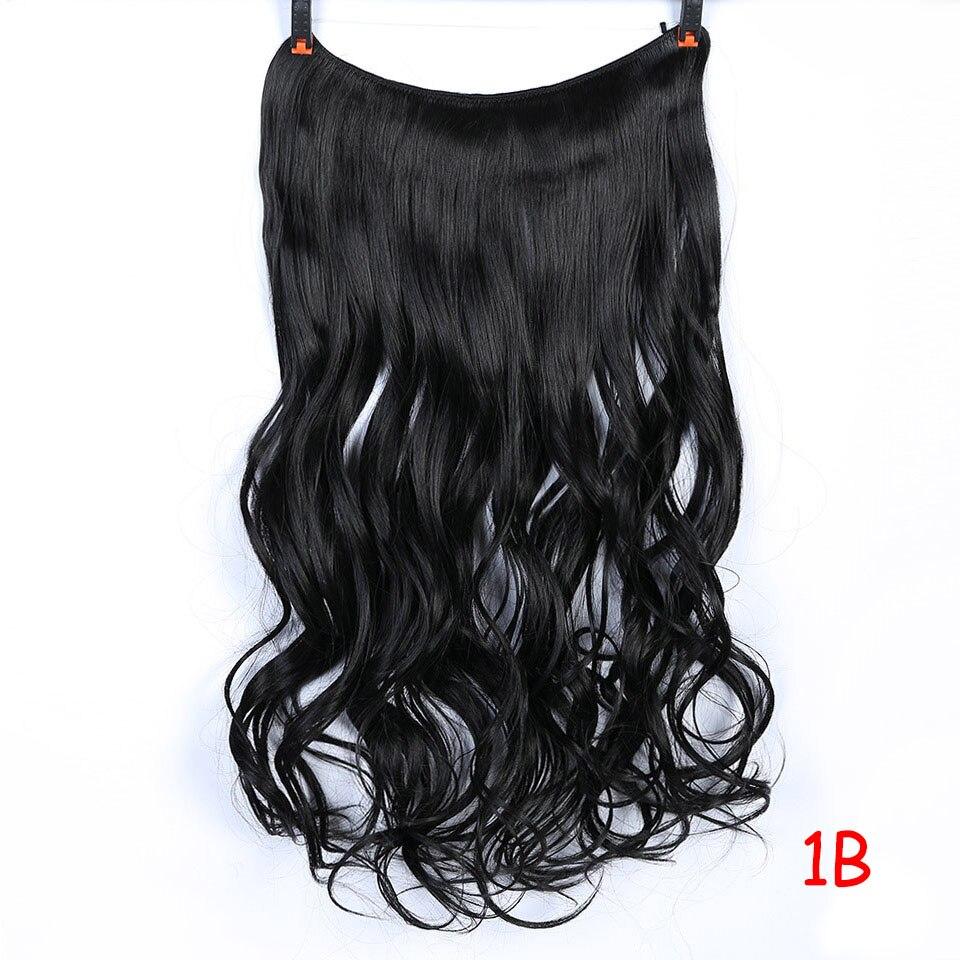 """SHANGKE 2"""" флип-на проволоке в синтетическом скрытом невидимом не клип в головном повязке прямые высокотемпературные волокна для наращивания волос - Цвет: #16"""