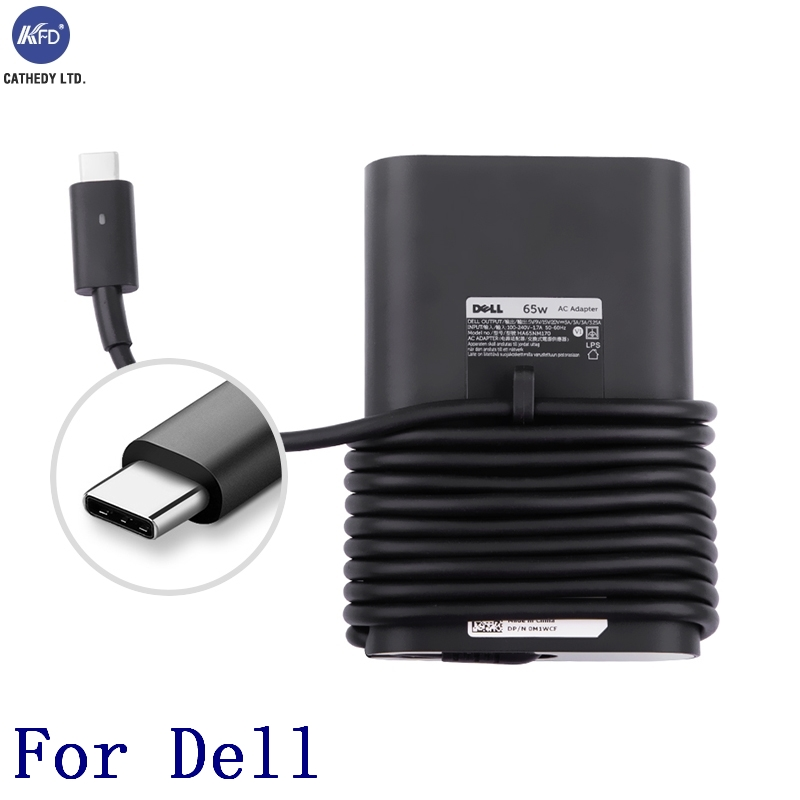 US $31 97 | KFD 65W 5 20V USB C Charger for Dell LA65NM170, 2YKOF, 02YKOF  XPS 12 9250 Latitude 12 7275 Latitude 13 7370 LA45NM150 02YKOF-in AC/DC