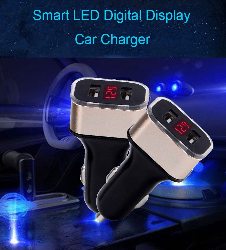 Universal 3.1A Fast Charging Smart Car Phone Charger For