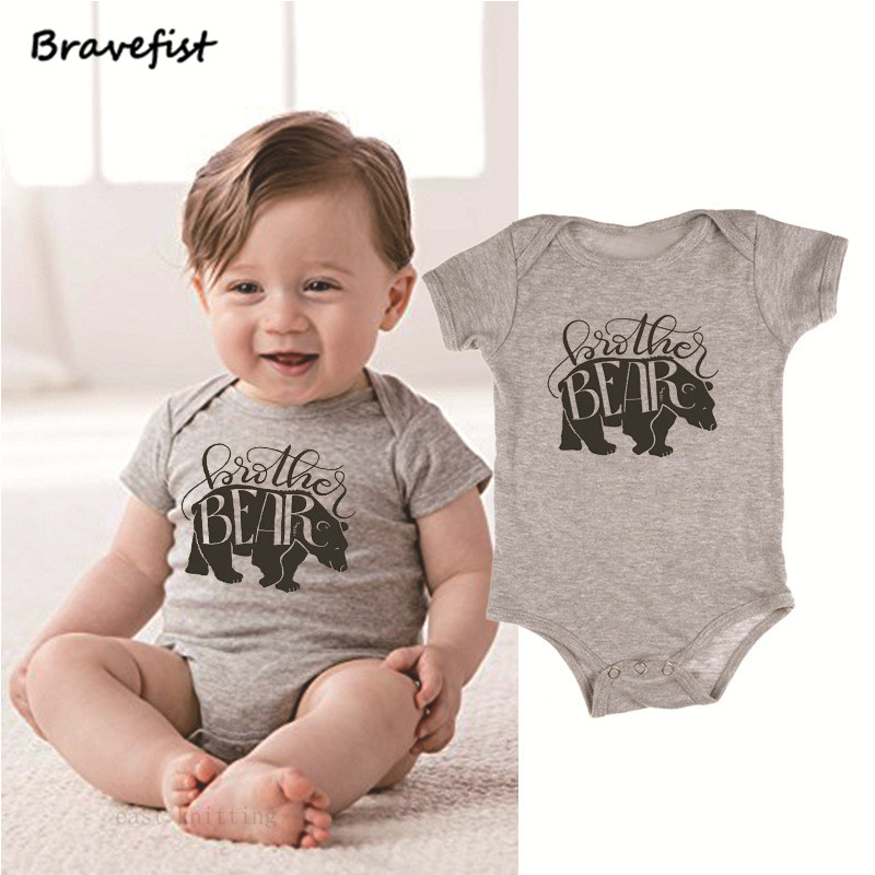 "Newborn Baby Boys /""Little Brother/"" Romper Tops Bodysuit Jumpsuit Summer Clothes"