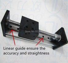 Высокой Точности С ЧПУ SGX 1605 Ballscrew Подвижный Стол полезный ход 100 мм + 1 шт. nema 23 шагового двигателя XYZ оси Линейного движения