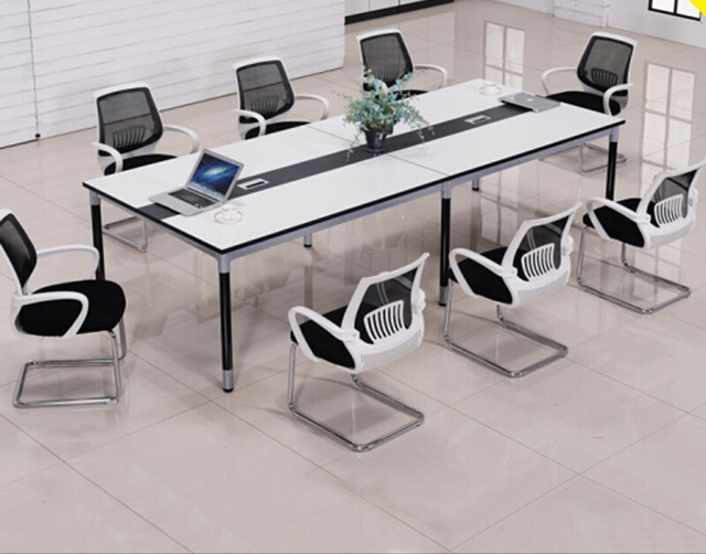 Perfect Conference Tables Office Furniture Commercial Furniture Panel+steel Modern  Office Tables 480*140 Cm