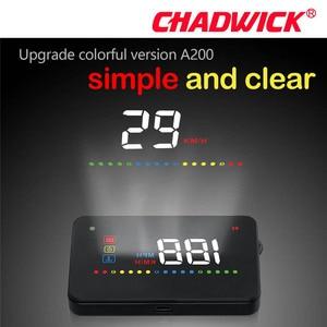 Image 4 - New CHADWICK Car HUD Head Up Display Universal Auto Vehicle Speeding Warning MPH Head Up Display Projector A200 OBD2 accessories