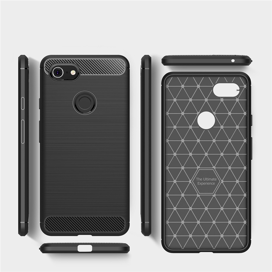 Rugged Armor Case For Google Pixel 1 2 3 XL Slim Fit Carbon Fiber Scratch Resistant Shock Absorption Soft Silicone TPU Cover