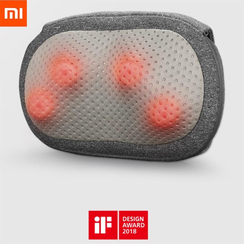 D'origine Xiaomi Lefan Sans Fil Température 3D Oreiller de Massage PTC Compresse Chaude Type-c Interface Autorotation Opération à Une touche