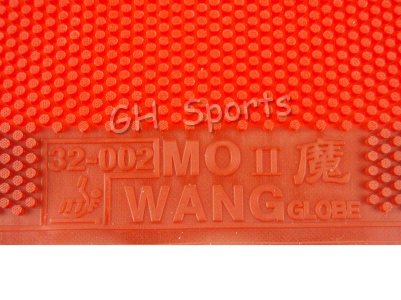 2x Globe Mo Wang II Long Pips-Out Table Tennis (Ping Pong) Rubber Without Sponge (Topsheet, OX)