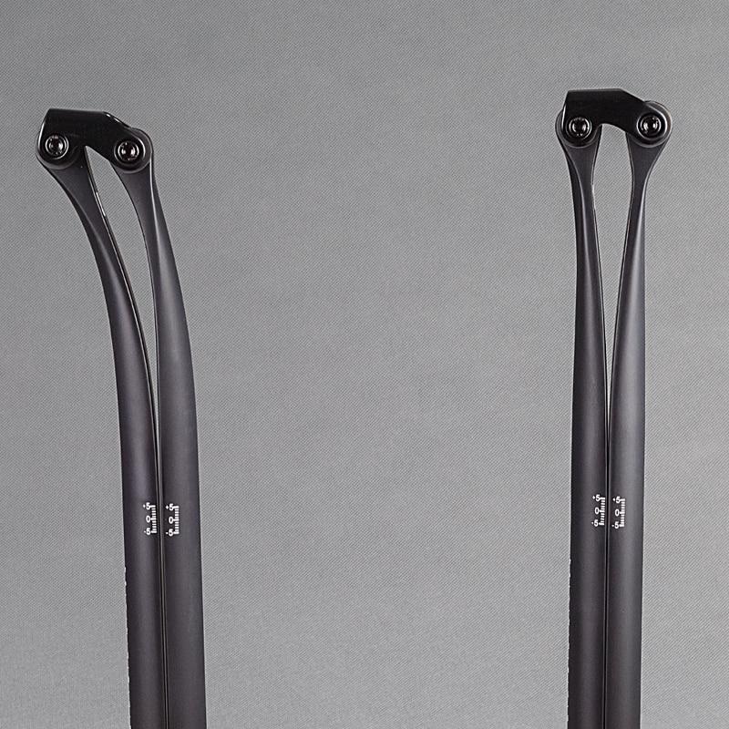 Road Mountain Bike UD Matte Full Carbon Fiber Seat Tube Bike Seat Post Cycling Seatpost 20 & 5 Degree 27.2/30.8/31.6*330mm