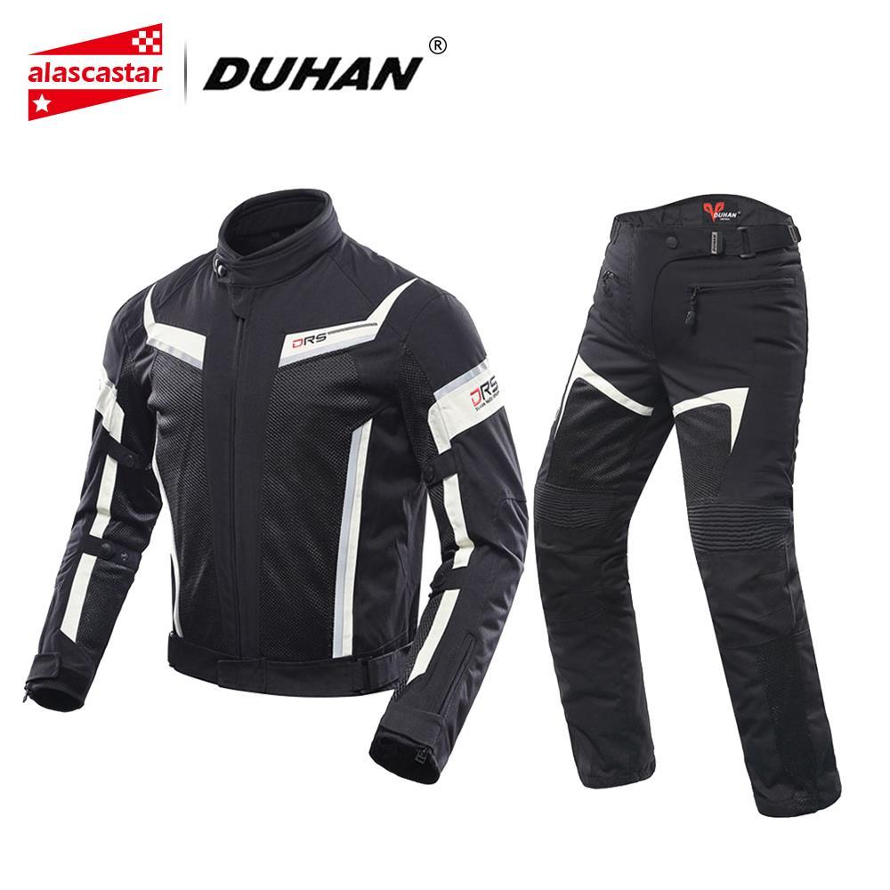 DUHAN veste de Moto hommes pantalons de Moto respirant course respirant Chaqueta Moto vestes d'équitation Moto Moto vêtements