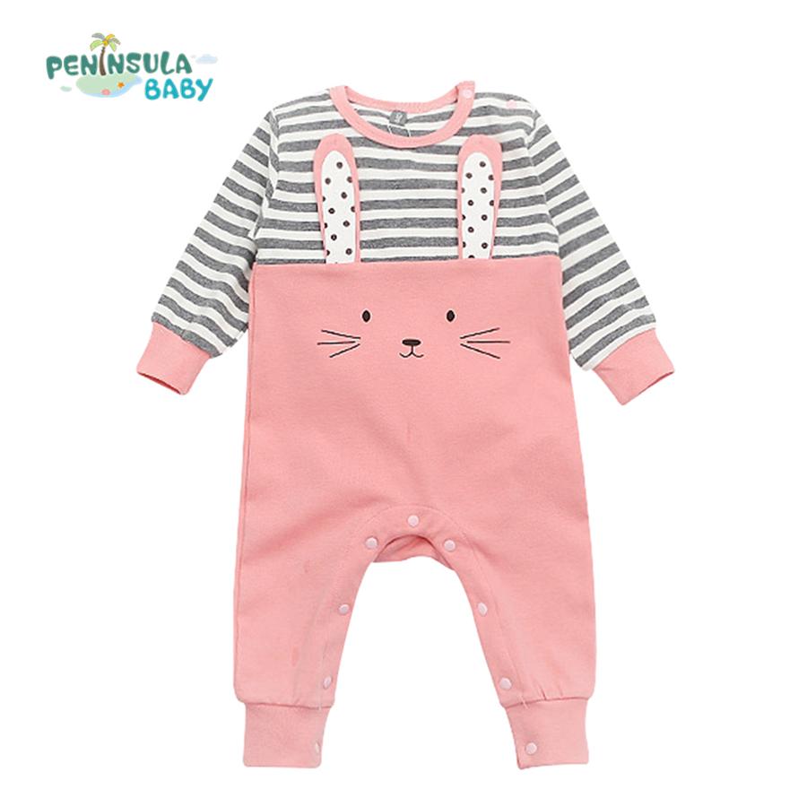 Baby Romper Newborn Infant Long Sleeve Cartoon Animals Rompers Cotton Wool Baby Clothing Baby Boy Girl Cute One Pieces Jumpsuit newborn infant baby boy girl clothing cute hooded clothes romper long sleeve striped jumpsuit baby boys outfit