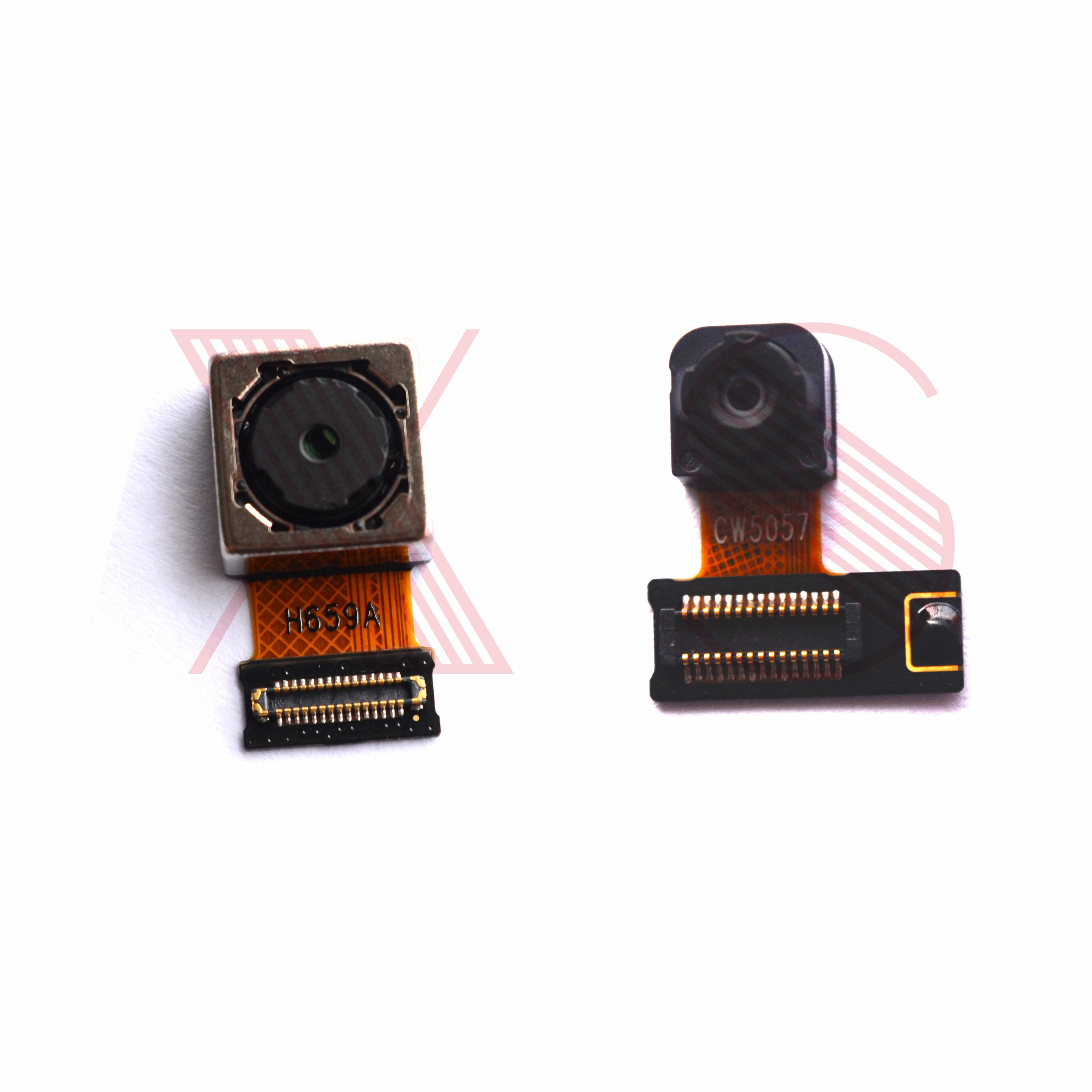 Original Front Small Facing Camera Back Rear Main Camera Module  Flex Cable For LG Q6