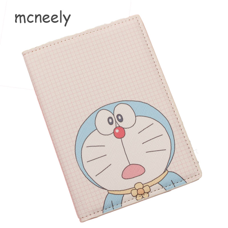 2018 New cartoon Doraemon Passport Cover,Girls and boys like PU Leather Passport Holder Travel passport Case ID Card Holder платье bgn платье