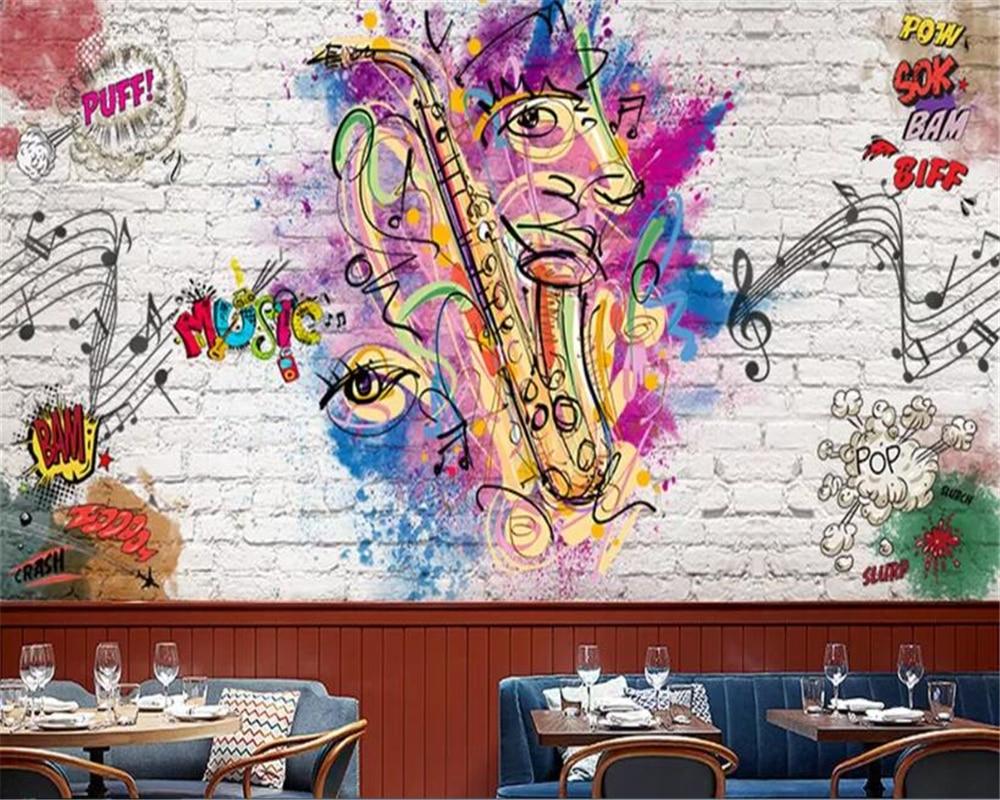 US $8 8 OFF Beibehang Wallpaper Untuk Dinding 3 D Stiker Wallpaper Digambar Tangan Doodle Toko Pakaian Perkakas Wallpaper Dinding Untuk Dinding