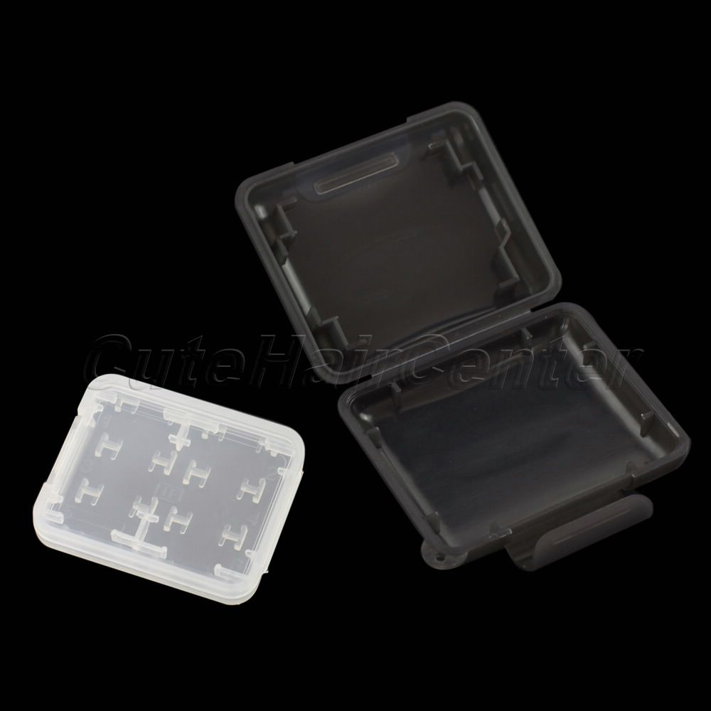 Good Quality plastic 8 in 1 Case SD MS Micro SD TF Memory Card Storage Holder Box