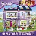 Regalo de las muchachas de emma casa villa diy construcción ladrillo desarrollar juguetes compatible con legoes amigo 41095