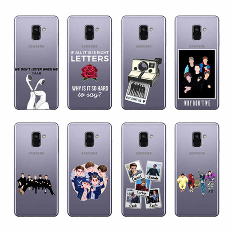 Why dont we 8 Letters Fashion Preto TPU soft Silicon Phone Case For Coque  Samsung Glaxy A3 A5 A6 A8 A7 J3 J5 J7 Cover