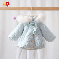 AD Thermal Bud Baby Girls Parka Cotton Padding Baby Snowsuit Quality Warm Jumpsuit Children Winter Clothing Toddler Outwear