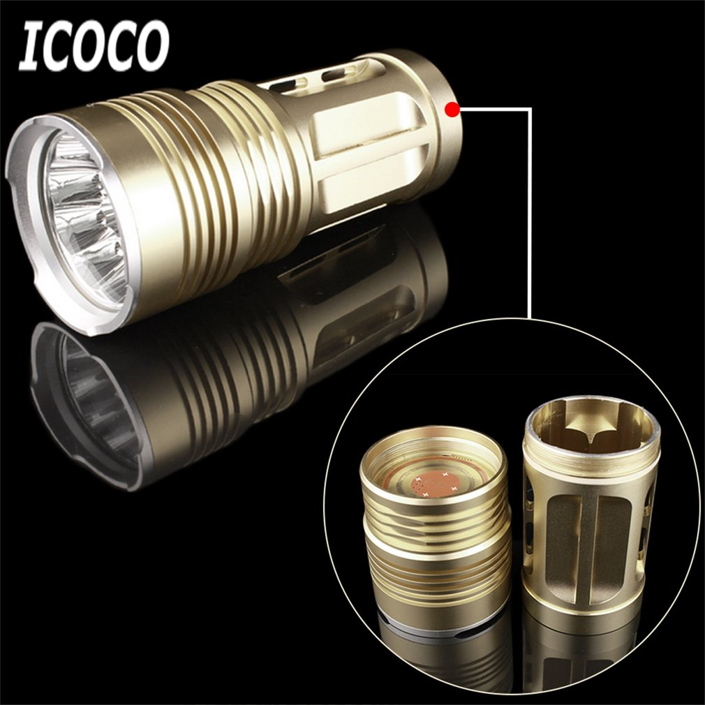 ICOCO 1pcs 11 LEDs Light Aluminum Alloy Super Bright Small Portable 1200LM Tactical Flashlight Torch Hunting Camping Lamp Light