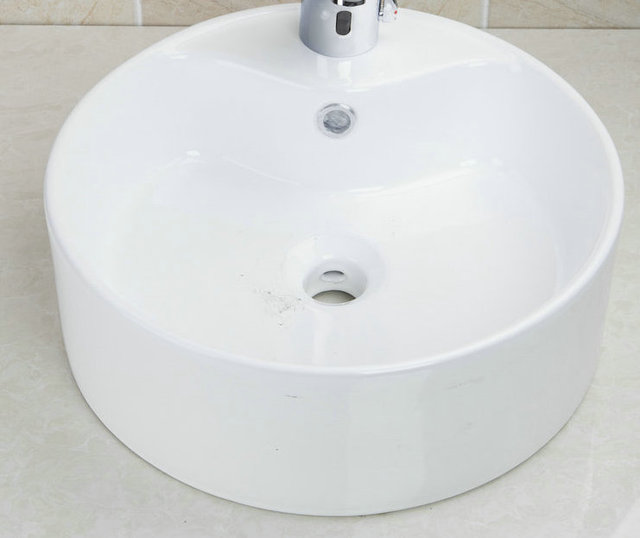 Modern Style Handmade Countertop Basin Sink Td3030 Ceramic Washbasin Bowl Bathroom Vessel With Pop Up