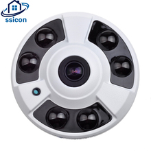 SSICON 4Megapixel Security 180 Degree Camera Wide Angle 6Pcs IR Leds IR Distance 40M Fisheye Dome Analog  Indoor Camera AHD цена 2017