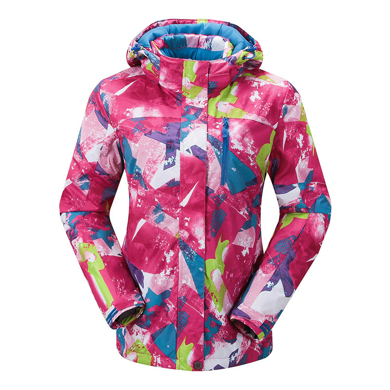 Veste de Ski femme épaissir manteau imperméable coupe-vent respirant Sports d'hiver en plein air montagne randonnée Snowboard Ski veste femmes