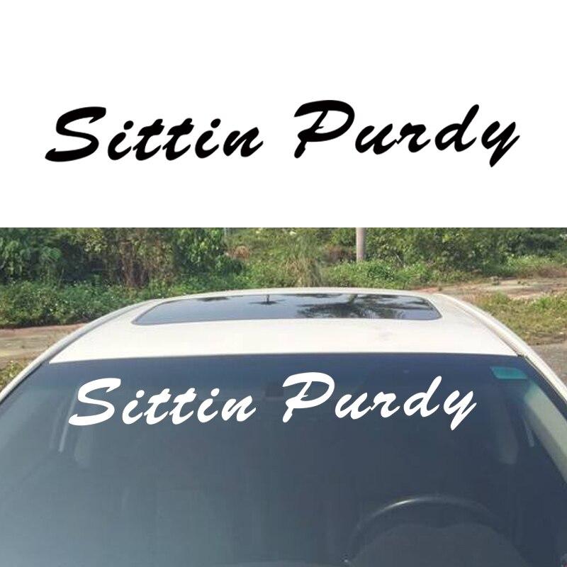 Us 9 23 23 Off Hot Selling Sittin Windshield Banner Car Sticker Truck Vinyl Decal Lift Vinyl Decal Car Window Artisitc Decorations Jdm In Car