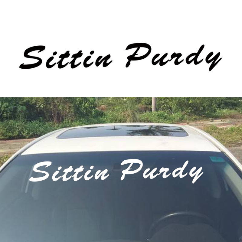 Hot Selling Sittin Windshield Banner Car Sticker Truck Vinyl Decal Lift Vinyl Decal Car Window Artisitc Decorations JDM