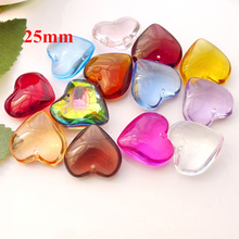 Crystal Heart Pendant Colour Wholesale 25mm 20pcs/Lot Top-Quality Mill-Finish AAA Dark-Red/light-Azore