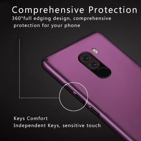 For Xiaomi Pocophone F1 Case Hard Plastic Luxury Back Covers Cases for Xiaomi Pocophone F1 Poco F1 Coque Shockproof Phone Bumper Islamabad