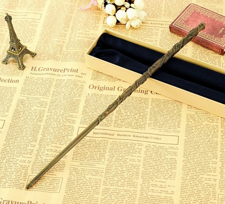 Ojos a diamantes Marquesa clavos joyería accesorios mujeres Consejos de Bricolaje uñas varita mágica más Deluxe Hermione Granger varitas mágicas con el embalaje de la caja de regalo para Harri Potter Cosplay
