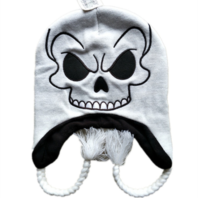 cc206b2138a3d New Fashion the Night Before Christmas Jack Skellington Skull Laplander  knitting Beanies Cap Adult Children Kid