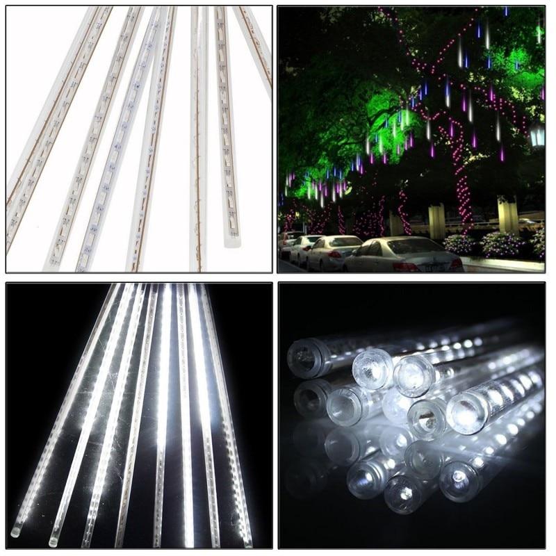 8PCS/SET 144 leds 30CM Meteor Shower Rain Tubes AC100-240V LED Christmas Lights Wedding Party Garden Xmas String Light Outdoor
