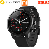 Английская версия Оригинал Xiao mi Hua mi Amazfit Stratos 2 темп 2 умные часы мужские с gps Xiao mi часы PPG пульсометр mi