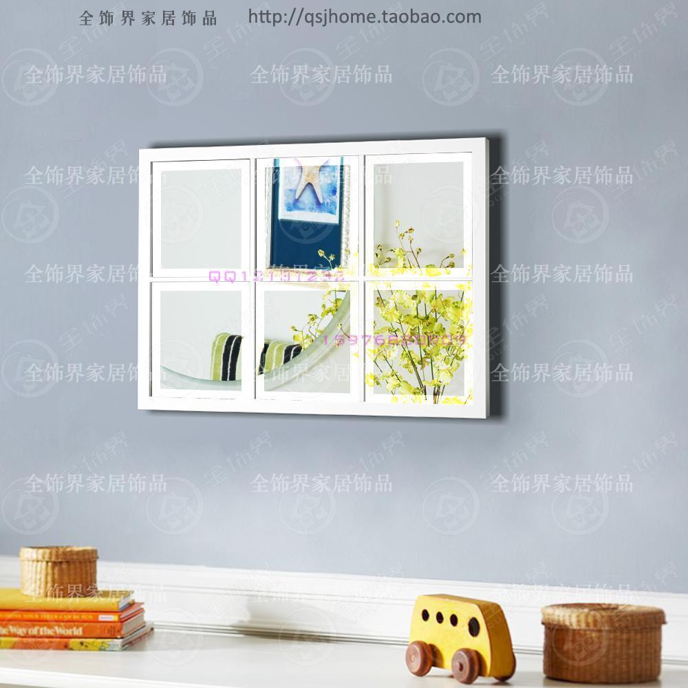 Pared de Metal espejo cuadrado del arte decoración de la pared del ...
