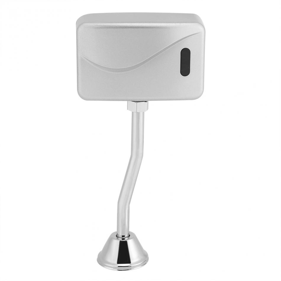 Bathroom Sensor Touchless Urinal Flush Valve Toilet Exposed Wall Mounted Automatic DC 6V Accessories