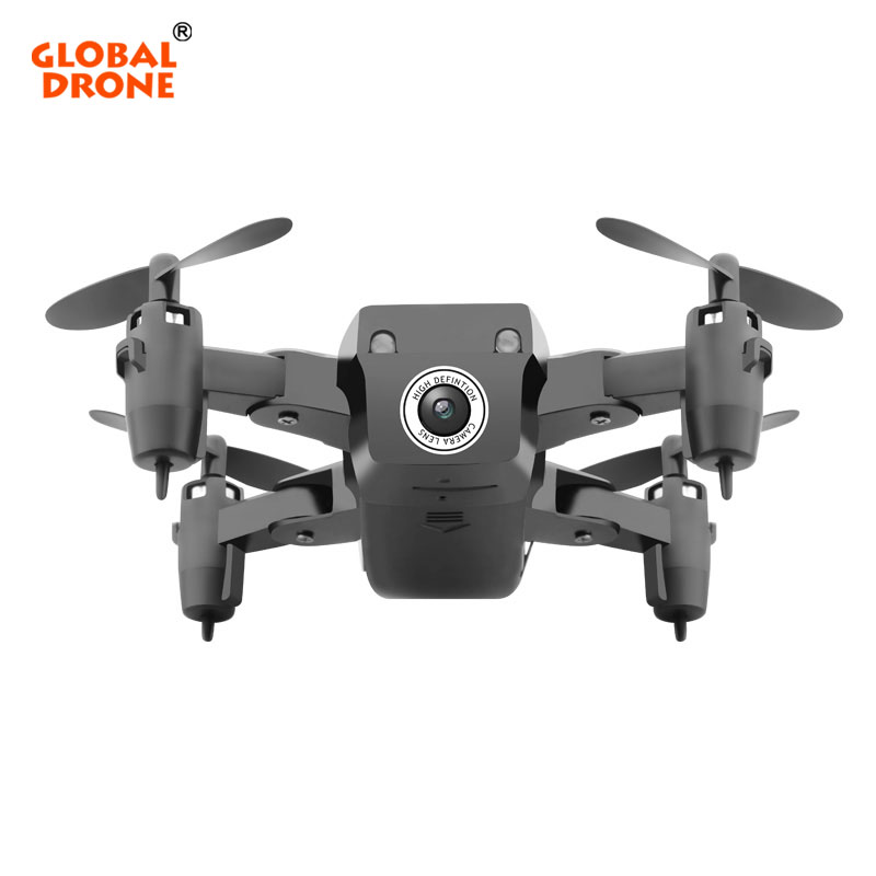 Global Drone 801 Mini Drone with Camera HD Altitude Hold RC Helicopter Real Time FPV Foldable Drones VS S9W GW009C-1
